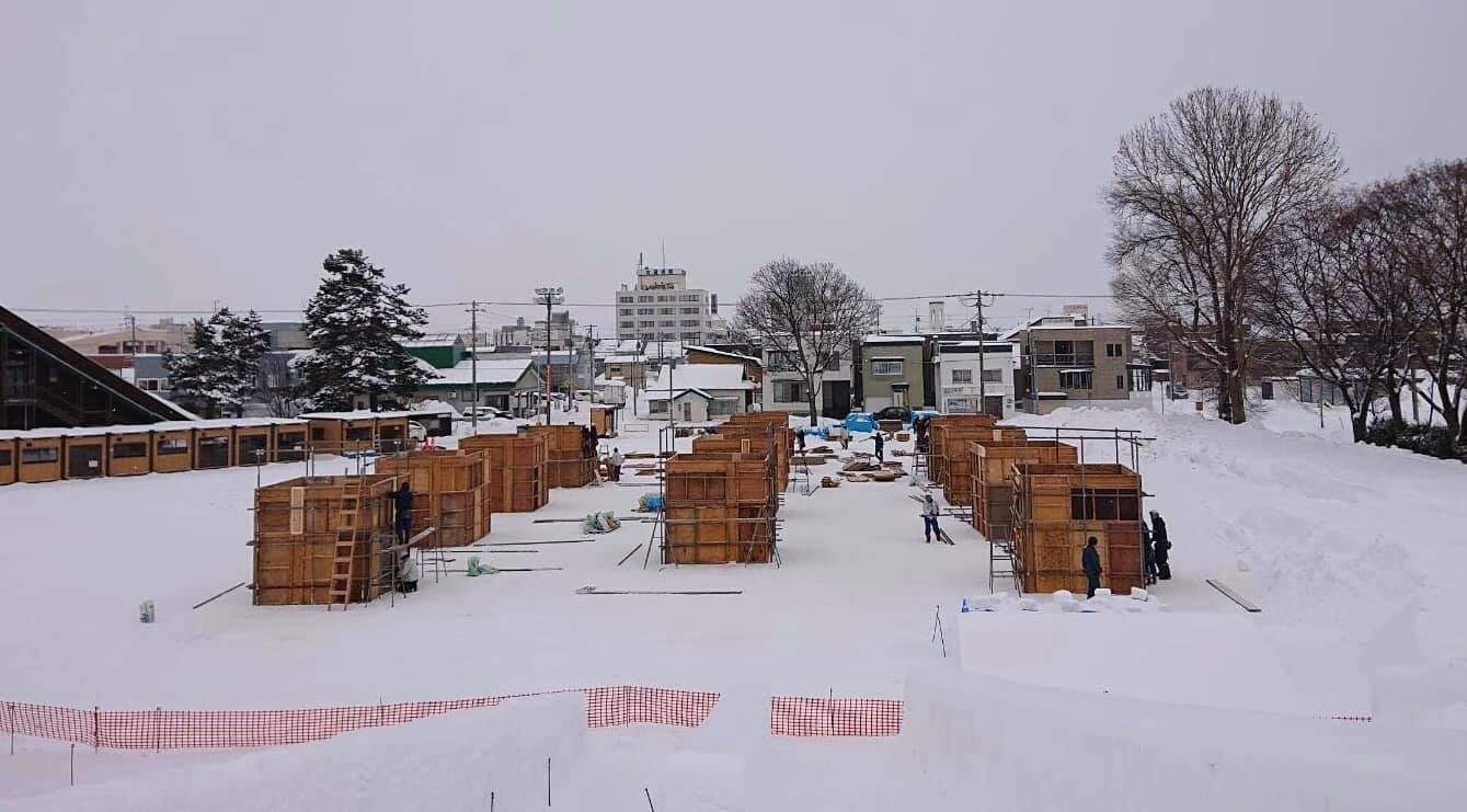 【お知らせ】 雪フェス 国際雪像 枠作成中