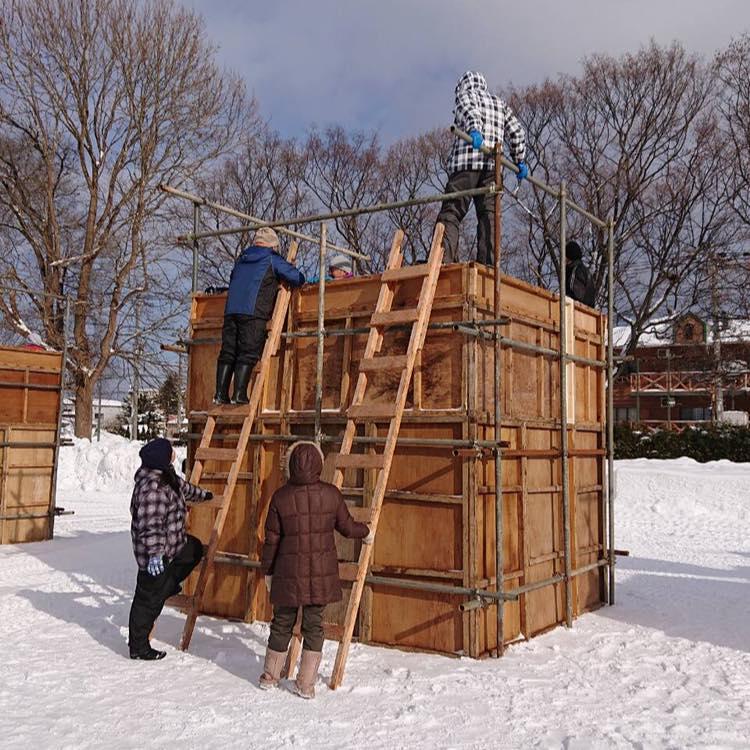 【お知らせ】 雪フェス 国際雪像 雪入れスタート