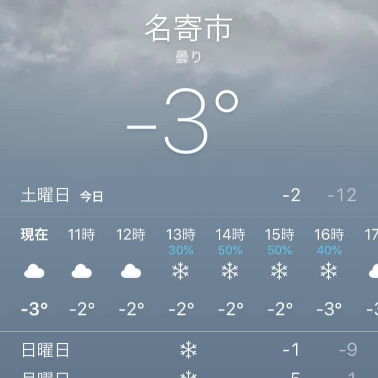 雪が降ってますね…